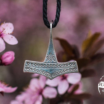 Thor's Hammer Mjolnir Pendant Viking Amulet from Bornholm Sterling Silver Necklace Scandinavian Norse Jewelry (Reconstruction)