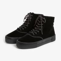 Monki | Shoes | Velvet high-top sneakers