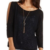 Cold Shoulder Dolman Top by Charlotte Russe