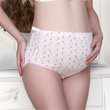 Soft Cotton Maternity Pregnant Mother Adjustable Oversize Shorts Underpant Panties = 1843008772