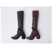 Buy Cherryville Faux-Leather High-Heel Tall Boots | YesStyle