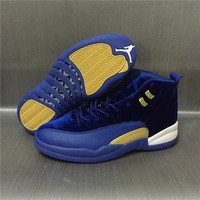 Air Jordan 12 Retro Velvet Blue Sport Shoes 36-47