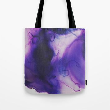 Violet Aura Tote Bag by duckyb