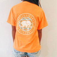 Orange Color Elephant T Shirt with Pockets