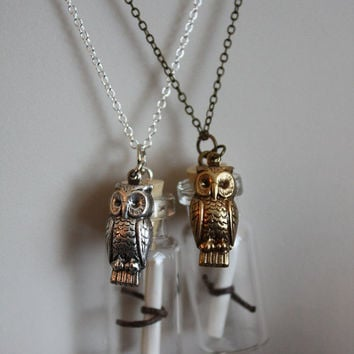 Harry Potter Owl Post Necklace