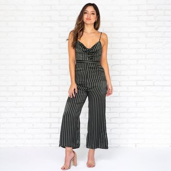 Friday Night Stripes Jumpsuit