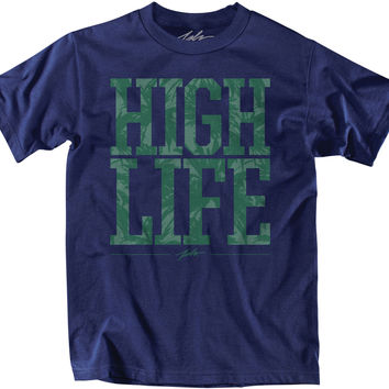 JSLV High Life Short Sleeve T Shirt - Navy