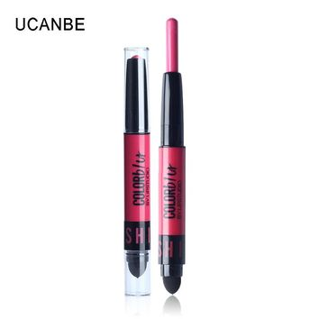 Brand New Dual Side 12 Colors Moisturizing Kiss Proof Creamy Lipstick With Cushion Makeup Long Lasting Coloring Silky Matte Lips