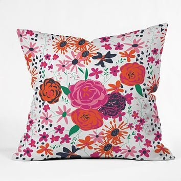 Vy La Bloomimg Love 1 Throw Pillow