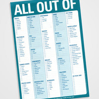 All Out Of... Pad | Knock Knock Grocery Checklist | fredflare.com