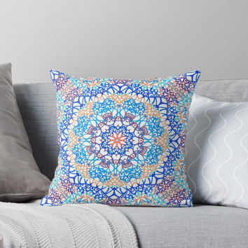 'Doodle Style G364' Throw Pillow by MEDUSA GraphicART