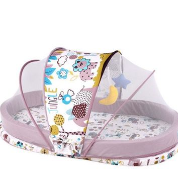 Portable & Foldable Baby Crib Bed Set Mosquito Net and Mattress