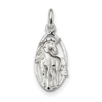 Sterling Silver Unicorn in Frame Charm QC4126