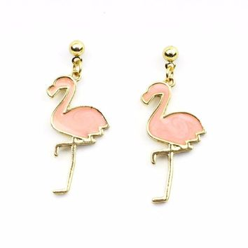 Light Pink Flamingo Earrings