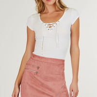 Hold Tight Lace Up Tee