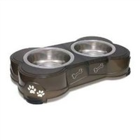 Loving Pets Dolce Diner Dog, 2 Bowl Set, Medium, 1 Quart, Espresso