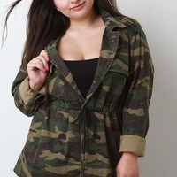 Live Free Camouflage Button Up Jacket