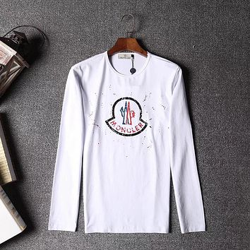 Moncler Women Men Fashion Casual Scoop Neck Long Sleeve Top Sweater Pullover
