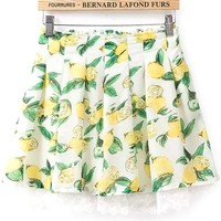 Fresh Lemon Pleated Skirt - OASAP.com