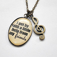 personalized favorite theme song lyrics pendant necklace