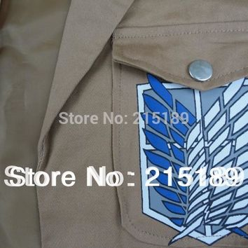 TITAN CLOTH fation CARTOON Shingeki Kyojin/Attack Titan Jaeger Anime cosplay Jacket