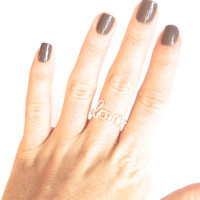 love ring wire wrapped love promise ring