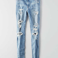 AEO Denim X Hi-Rise Jegging, Light Destroy Wash