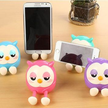 Candy Color Universal Cute Owl Pattern Phone Stand Holder for cell phone Accessories
