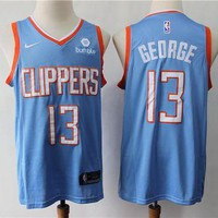 Los Angeles Clippers 13 Paul George Light Blue City Ed Swingman Jersey