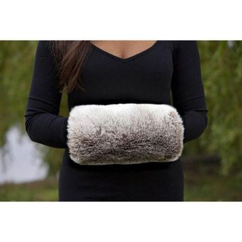 ONETOW 2015 Hot New Fashion Winter Luxurious Faux Rabbit Fur Muff Hand Warmer = 1931756932