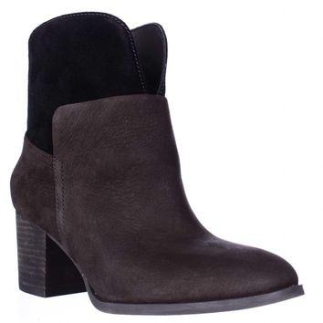 Nine West Dale Pull On Ankle Boots, Dark Brown/Dark Brown, 10 US