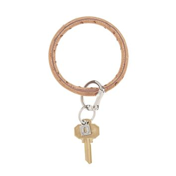 O-Venture: Mocha Ostrich Big O Key Ring