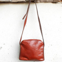 Vintage TEXIER Leather Purse , Crossbody Bag / Small / Made in France /