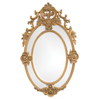 Florence Antique Gold Mirror