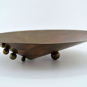 Hand Crafted Copper Serving Dish Beautiful Original Decorative Art