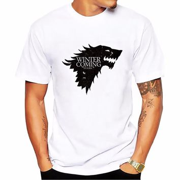 2018 game of throne stark wolf flag Totems summer t shirt homme new arrive casual tshirt man Short Sleeve Plus Size T-shirt