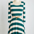 Sunday Fun Day Dress in Forest and Ivory | Mod Retro Vintage Dresses | ModCloth.com