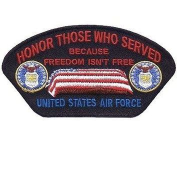 Honor Those Who Served Air Force Biker Ball Cap POW MC Club Vest Patch PAT-0822