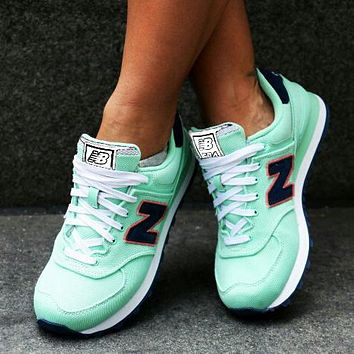 New Balance Z-shaped shoes sports casual running shoes tide retro shoes Mint green
