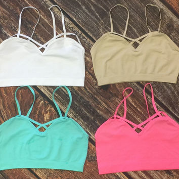 Criss Cross Bralette: Multiple Colors