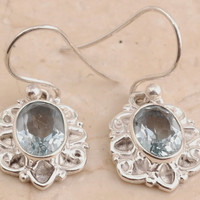 Blue Topaz dazzling Earrings