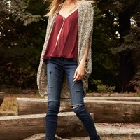 Painted Threads Cardigan, Lush Camisole & STS Blue Jeans | Nordstrom