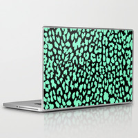 Mint Black Leopard Laptop & iPad Skin by MN Art | Society6