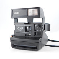 Vintage Polaroid Camera -  One Step Flash - 600 Series