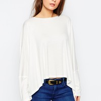 Glamorous Oversize Cape Jersey Top