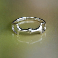 Sterling Silver Little Bit Ring-Wild Horsefeathers