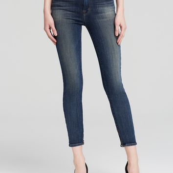 NWT J Brand Skinny Cropped Zip Jeans, Spirited Wash, Size 31