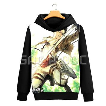 Cool Attack on Titan Anime  Mens Hoodies Eren Levi 3D Printed Sweatshirts Women Men Long Sleeve Coat Autumn Winter Casual Hoodies AT_90_11