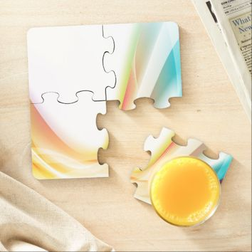Abstract Swirl 2 Puzzle Coaster
