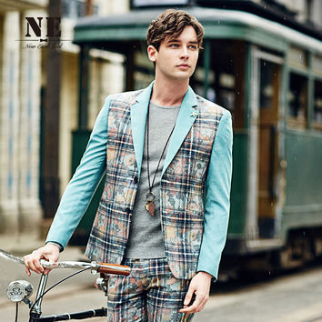 Blazer Plaid England Style Suits Fashion Jacket [7951201795]